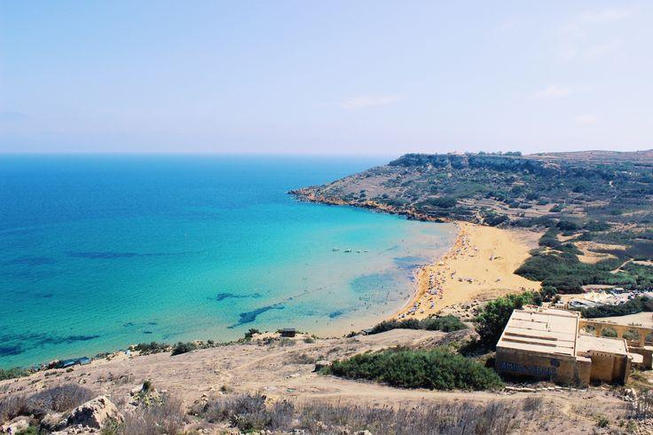 Ramla Bay and Calypso Cave in Gozo, Malta