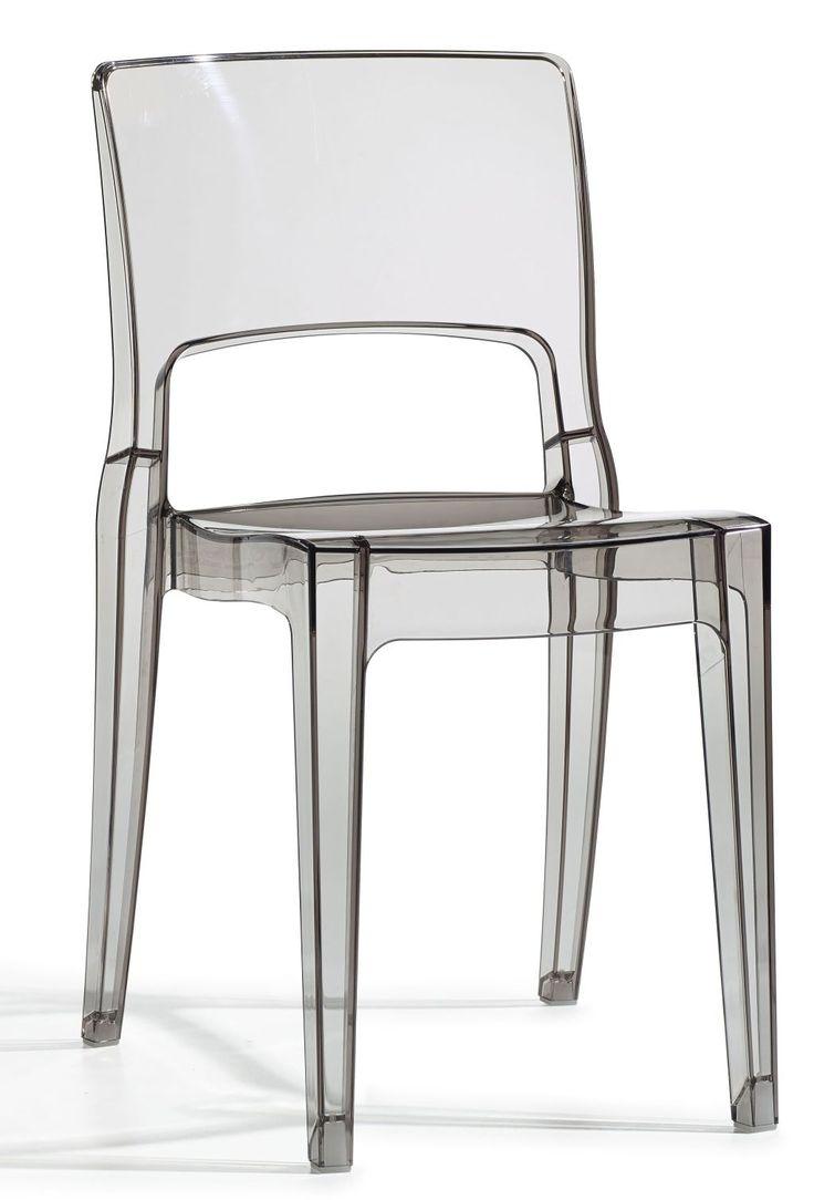 Isy stoel transparant smoke - Scab Design