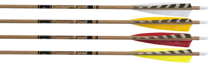 "Gold Tip Traditional Carbon Arrows in Red (1/2 dozen 600 spine cut to 30"" with inserts)"