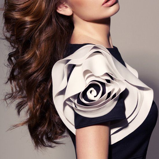 Learn how to embellish a plain dress with a silky rosette... who would be so cool and wear this!? wow