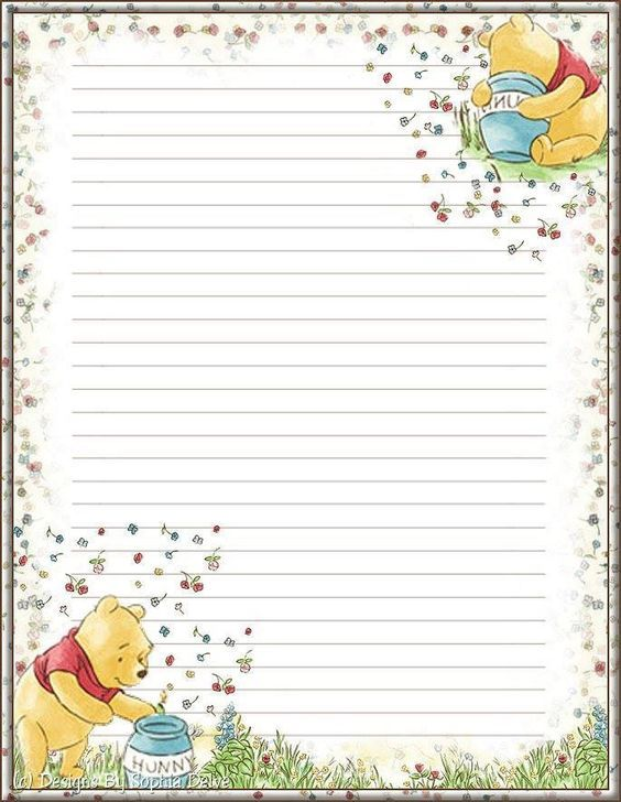 best writing paper printables images  winnie more printable stationery printableswrite my paperwriting