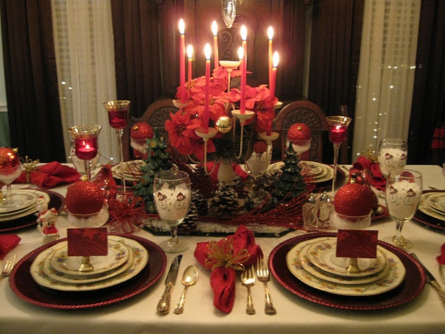 Beautiful Set Christmas Table Come Dine With Me Pinterest