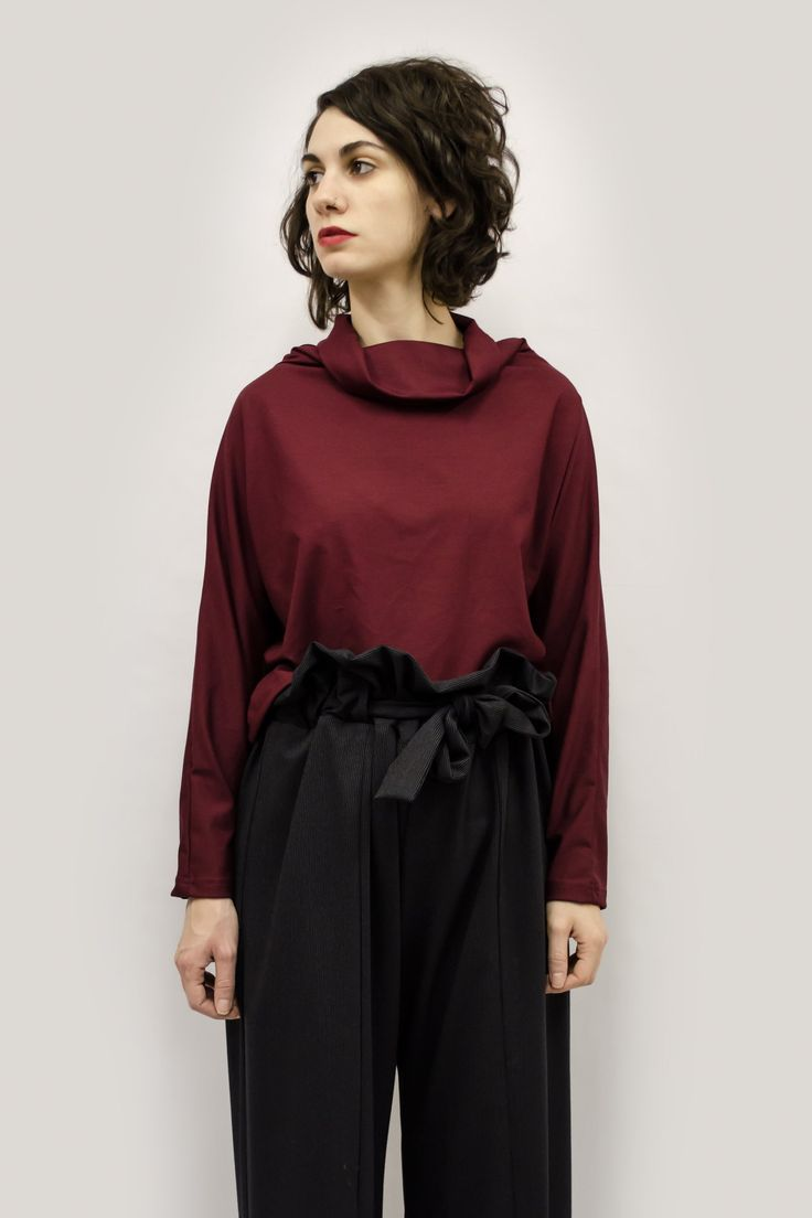Cropped Top Hanae in Viscose Jersey Colors