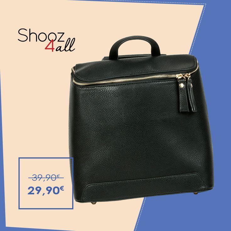 Backpack με χρυσό φερμουάρ http://www.shooz4all.com/el/gynaikeies-tsantes/backpack-me-xryso-fermouar-b6926-detail #shooz4all #backpack