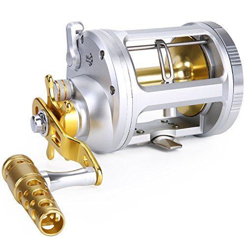 Nice One Bass Fishing Reels Level Wind Trolling Reel Conventional Jigging Reel For Saltwater Big Game Fi Fishing Spinning Reels Trolling Reels Trolling Fishing