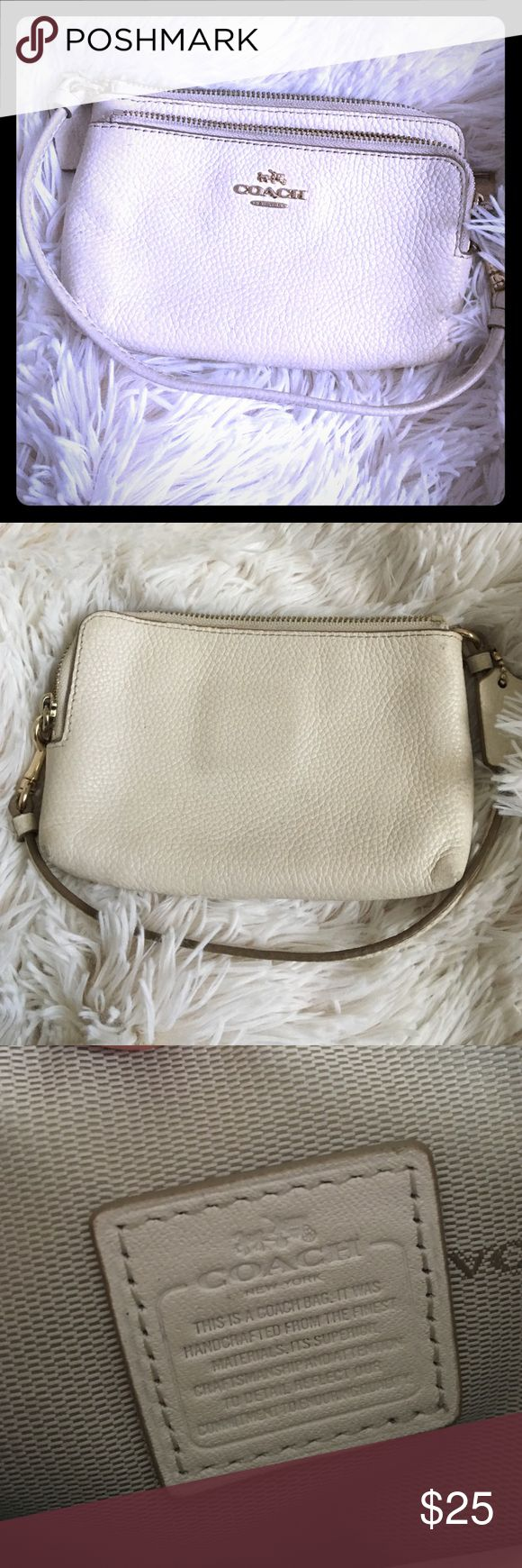 Coach clutch wallet wristlet White Coach clutch wallet wristlet White Coach Bags Clutches & Wristlets