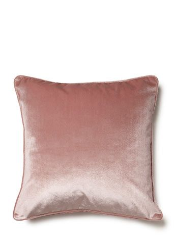 Pink essentials velvet cushion - essentials  - Home, Lighting & Furniture