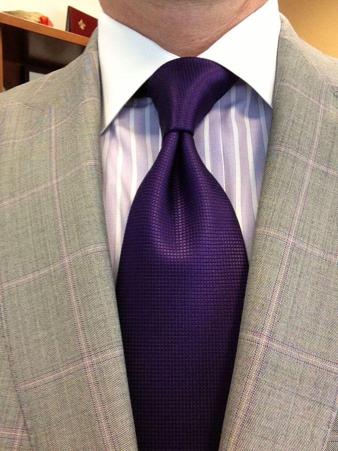 Sam Hober Tie: Dark Purple Diamond Weave Silk Tie 10 http://www.samhober.com/diamond-weave-silk-ties/