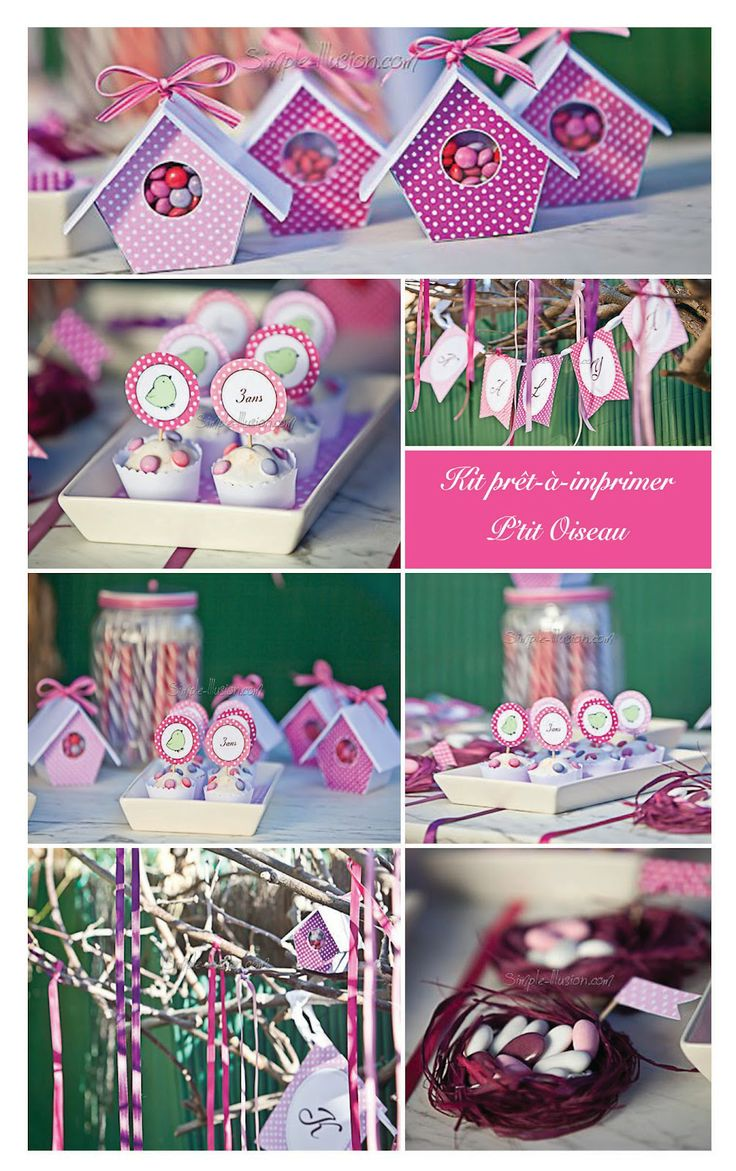 Le Candy Bar - Sweet Table etc: Printables - Thème le p'tit Oiseau