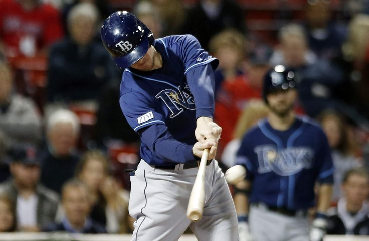 Wil Myers hits a run-scoring double in the first inning before the Red Sox took over the game. The Rays assured themselves a losing season, the first since 2007 when they were the Devil Rays, by being beaten by the Red Sox, 11-3. Catcher Curt Casali took 2 foul balls off his facemask in the 4th & will not play for the remainder of the season. This game was a disaster. (9-24-14)