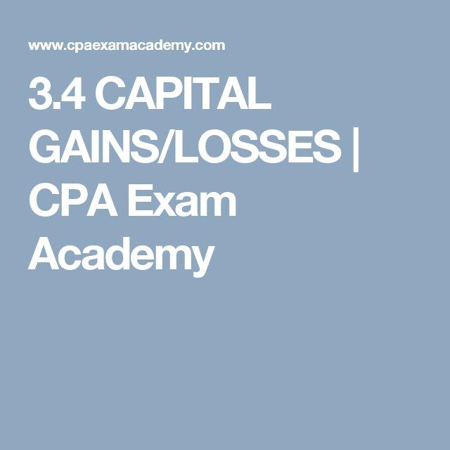 3.4 CAPITAL GAINS/LOSSES | CPA Exam Academy