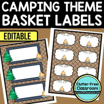 CAMPING or WOODLANDS THEME Editable Labels by CLUTTER FREE CLASSROOM - These organizational labels have many uses in the classroom or home school. They can be classroom library labels, name tags for cubbies or desks, supply labels, used for organizing centers, and much more. Grab these cute printables today for your preschool, Kindergarten, 1st, 2nd, 3rd, 4th, 5th, or 6th grade classroom or home school.  And make sure to check out the links for some FREE downloads to make your space look…