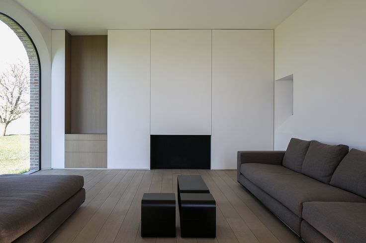 LIVING AREA-TV WALL  Interior by Belgian company Minus.
