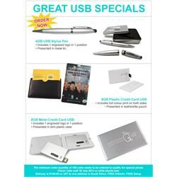 GREAT USB SPECIAL! FREE BRANDING! | Brand Innovation Specials in South Africa http://brandinnovation.co.za/catalogue/brand-innovation-specials/great-usb-special!-free-branding  #usbflashdrive #usbcapetownsupplier #creditcardusbflashdrivesouthafrica #brandedusbflashdrive #memorystick #customusbflashdrive #innovativemarketing #bandinnovation #usbspecials #greatusbspecials #brandedcreditcardusbgiftideas #corporategifts #