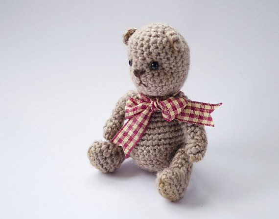 Crochet teddy bear Beige teddy bear Amigurumi teddy bear Crochet ...