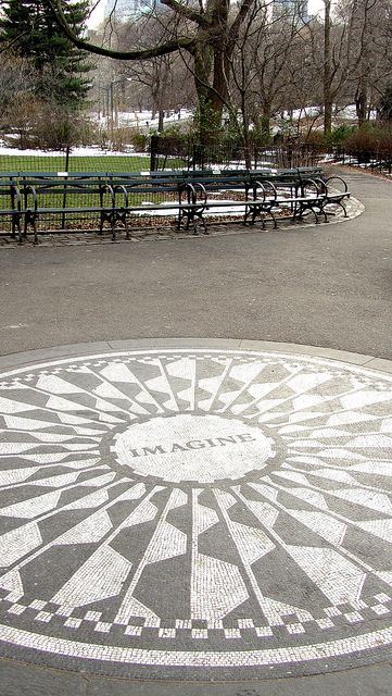 Central Park (NYC) make sure you find this in central park - it's near strawberry fields (for john lennon)