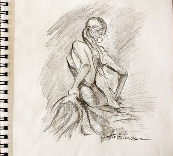 Passionate Flamenco Dancer Drawing Sketch by anastassiaorehova, $10.00