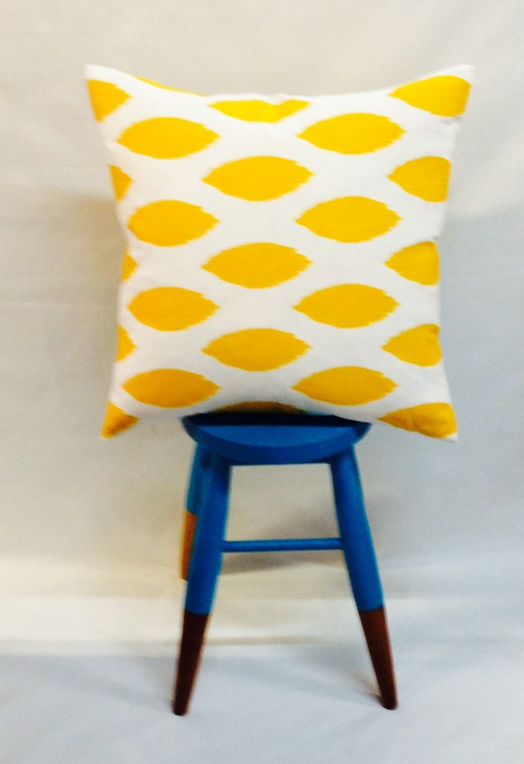 """GIVEAWAY! Over 600 Curtaineasy likes on Facebook. We are feeling """"Chipper"""" and to show our appreciation we have a beautiful cushion in Chipper Yellow with a feather inner to give away! Exclusive to our Facebook fans, all you have to do to win is answer a question that will really help us out. Simply head over to www.facebook.com/curtaineasy - pop your answer in the comments and you are in to win. *Only likers of our Curtaineasy page can enter the competition"""