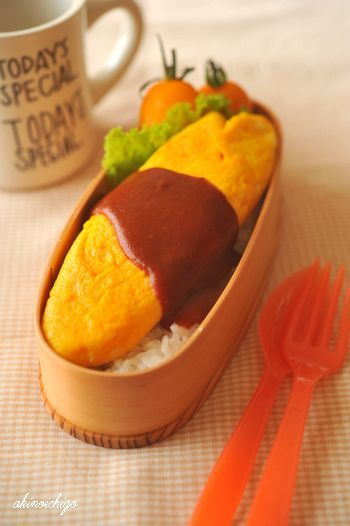 Japanese-Style Omelet and Rice Bento Lunch|弁当