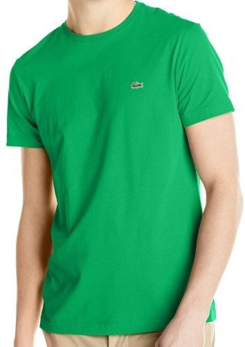 Lacoste 'Lacoste Men's Short Sleeve Jersey Pima Regular Fit Crewneck T-Shirt, Chlorophyll Green, 8'