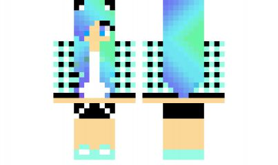 A diamond in the sky....oh wait thats just the new minecraft girl skin this new skin is a diamond girl! :D