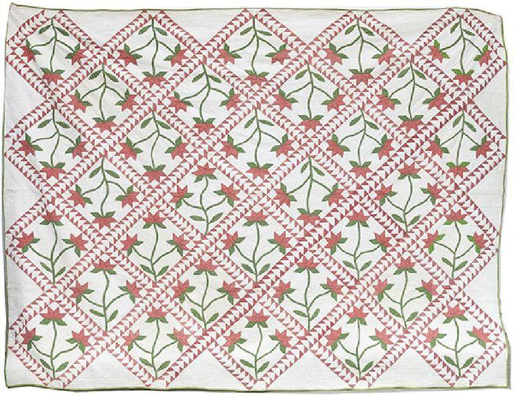 Wonderful Pieced & Appliqued Quilt c1870