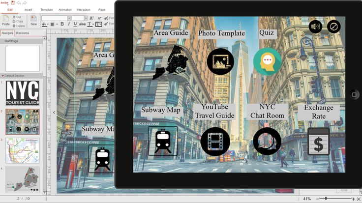 New York City Tourist App made by Smart Apps Creator 3. Everyone can do, no advanced programming skill