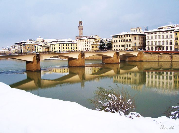 #florence in white dress  #firenze #snow #landscape