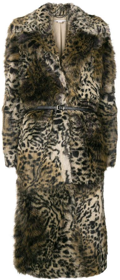 02018248d911a Stella McCartney Leopard Print faux-fur Coat | Products | Coat, Fur ...
