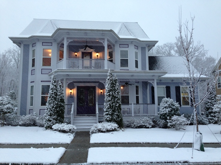 My house in winter. Charlotte, NC