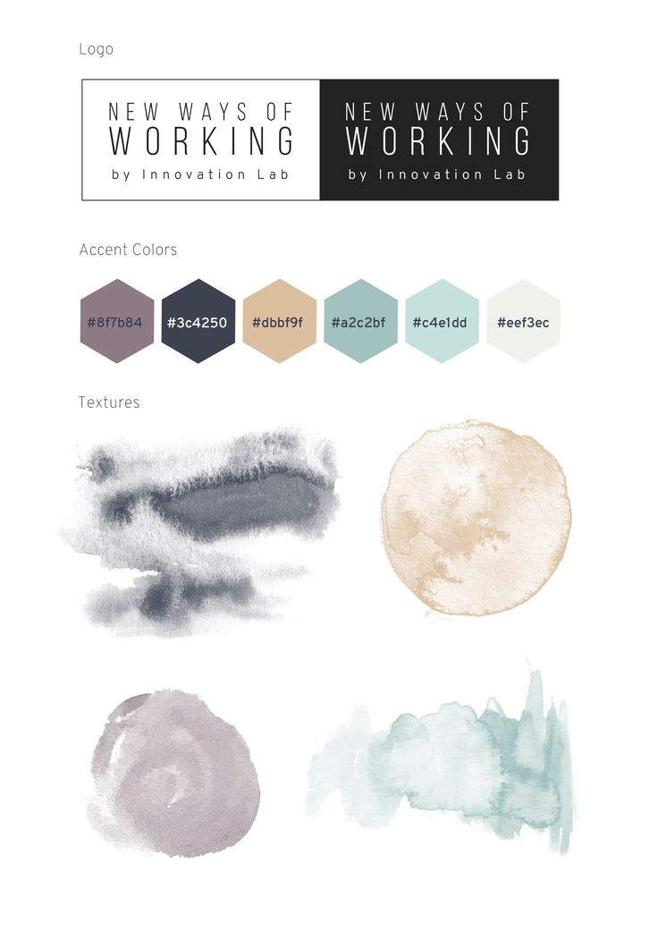 Logo I made and color choices for New Ways of Working by Innovation Lab