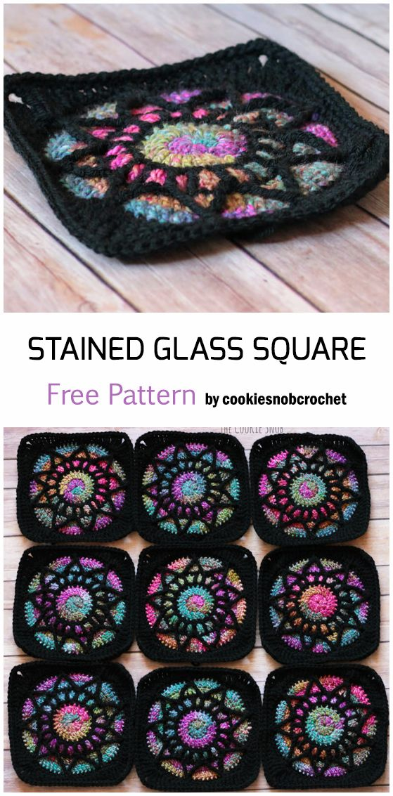 Crochet Stained Glass Square – Free Pattern