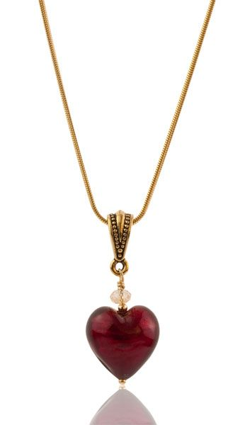 195 best necklaces venetian glass images on pinterest artisan gold foil baby heart pendant for fans of smaller more petite jewelry we have this inch baby heart pendant this pendant features a deep red murano glass mozeypictures Image collections