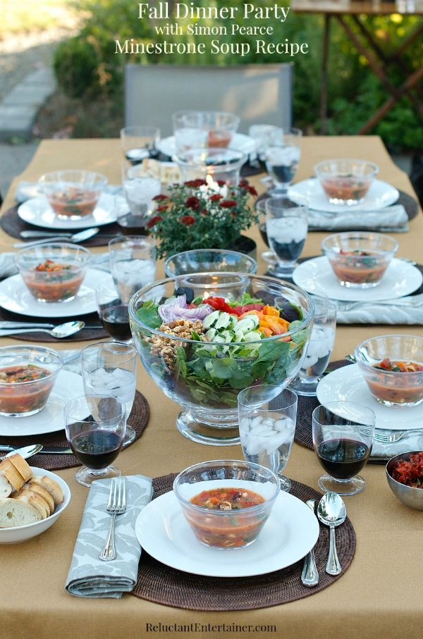 Fall Menu Ideas For Dinner Party Part - 39: Fall Dinner Party With Simon Pearce And Minestrone Soup Recipe