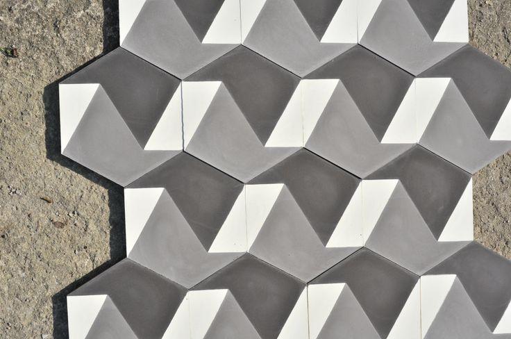Hexagonal. #purpura #cementtiles