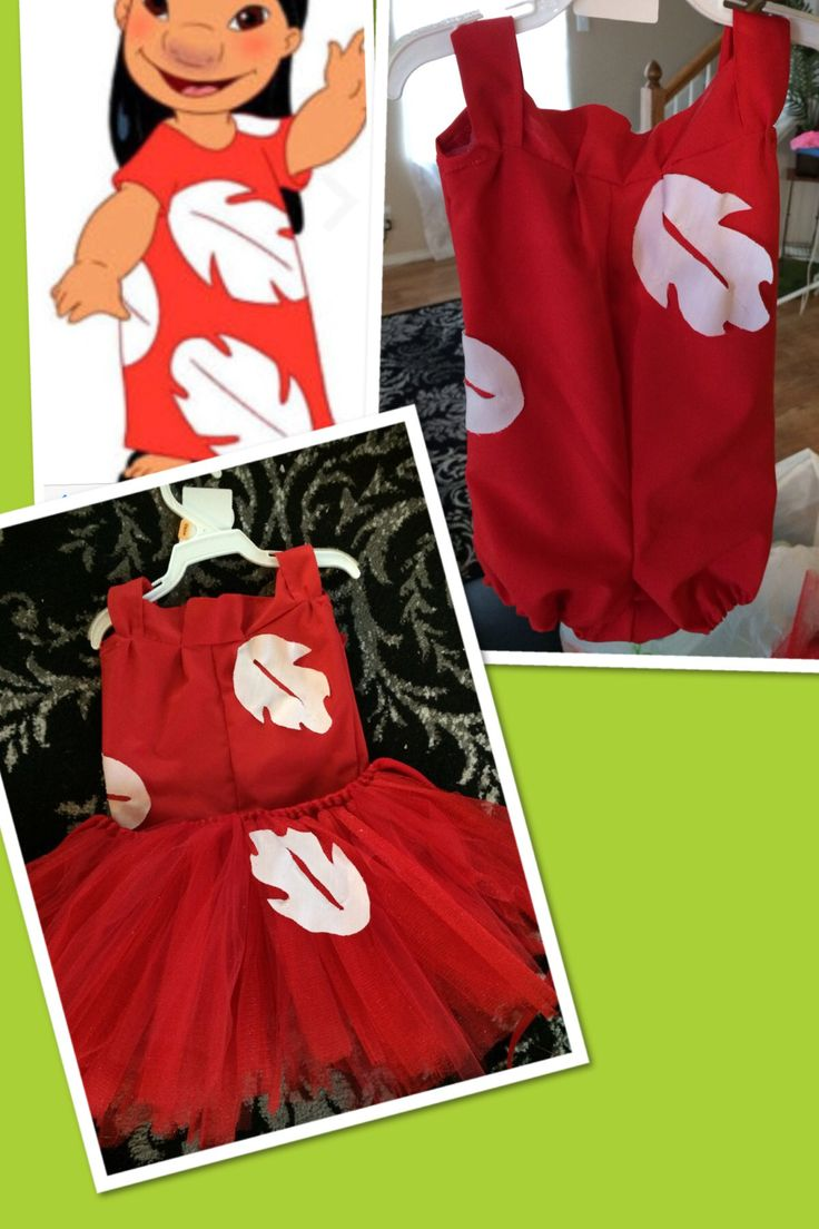 DIY Lilo onesie and tutu for a lilo and stitch party