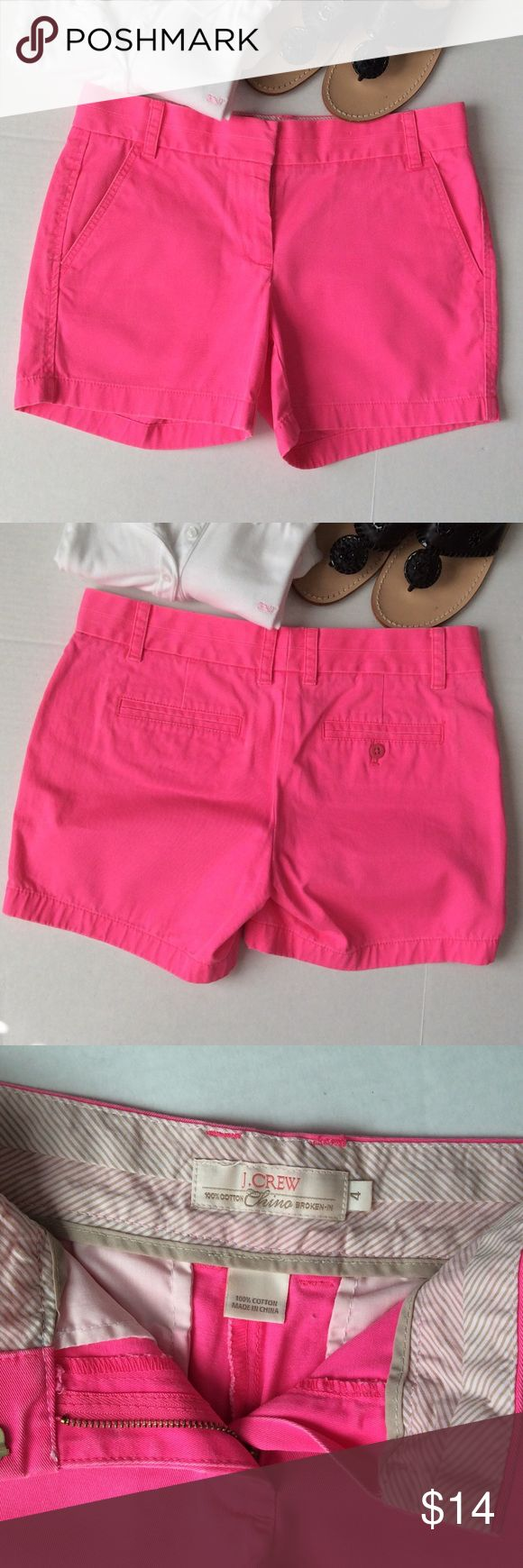 Arch their attention in hot pink! Classic J. Crew twill shorts! J. Crew Shorts