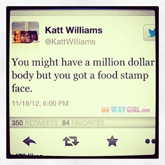 Funny Tweets: Food Stamp Face? Wow! BURN!! Katt Williams