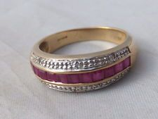 Fine Art Deco design Ruby & Diamond gold ring
