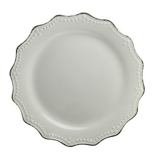 """Shop for Oxford Cream Dinner Plate 11"""" Set of 6. Free Shipping on orders over…"""