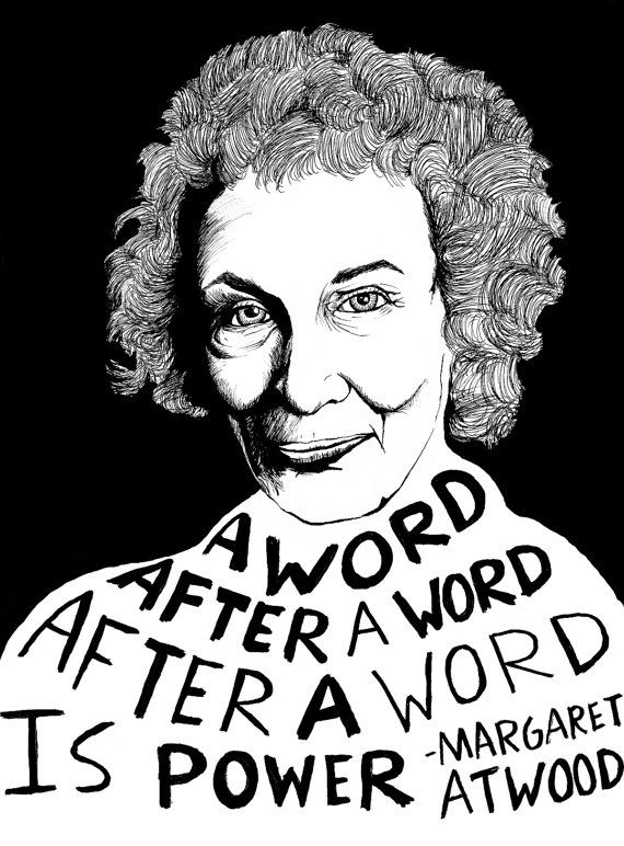 Margaret Atwood Authors Series by ryansheffield on Etsy, $15.00