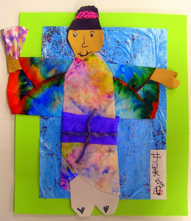 Konichiwa, ya'll!      My second grade students have been wrapping up their Self-Portraits in a Kimono collages this week and I just had ...