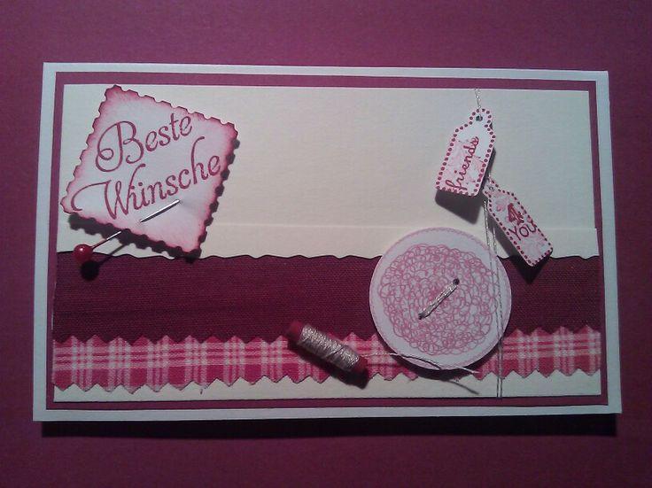 Geburtstagskarte, Patchwork-Gutschein