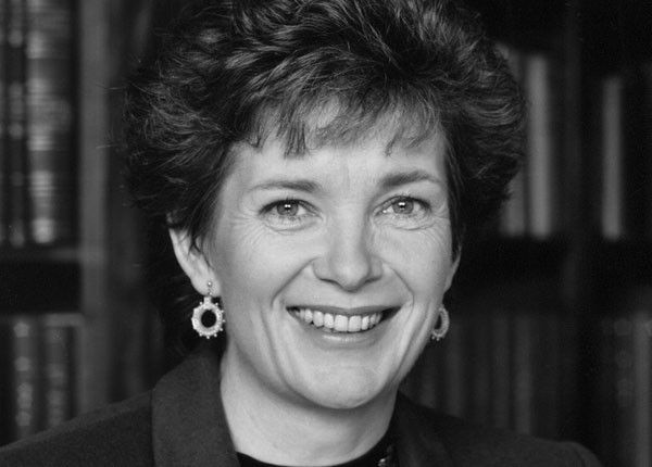 Mary Robinson. First woman President of Ireland and former UN High Commissioner for Human Rights; a passionate advocate for gender equality, women's participation in peace building and human dignity.