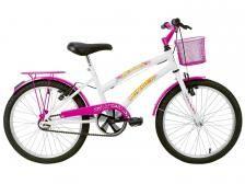 Bicicleta Infantil Aro 16 Verden Breeze - Branco e Pink com Rodinhas com Cesta Freio V-brake - Bicicletas infantis - Magazine Luiza