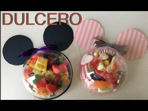 Dulcero de Minnie Mouse con foamy y botellas de plástico - YouTube