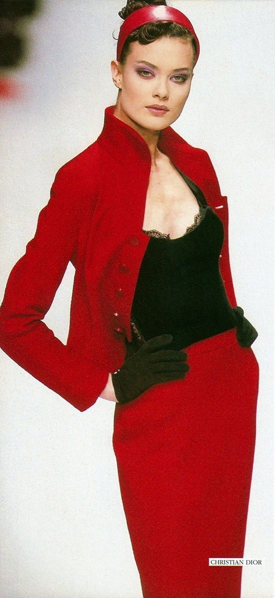 Shalom Harlow for Christian Dior, early 1990s