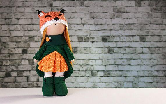 Doll Ulyana. Tilda doll. Textile doll. Soft toy. Cute от OwlsUa