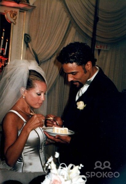 with Rick Fox, Wedding at the St. Regis Hotel, New York City, 9-26-1999