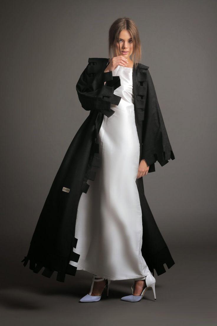 Modest black abaya.